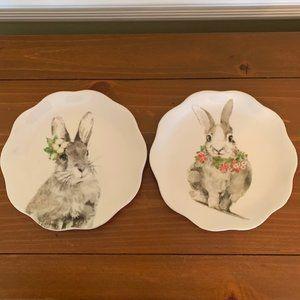 "Pier 1 Henry Bunny Salad Plates~8 1/2"" Diameter~2"